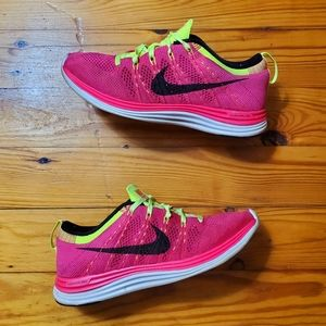 Rare Nike Flyknit One Lunarlon Sneakers Punch Volt
